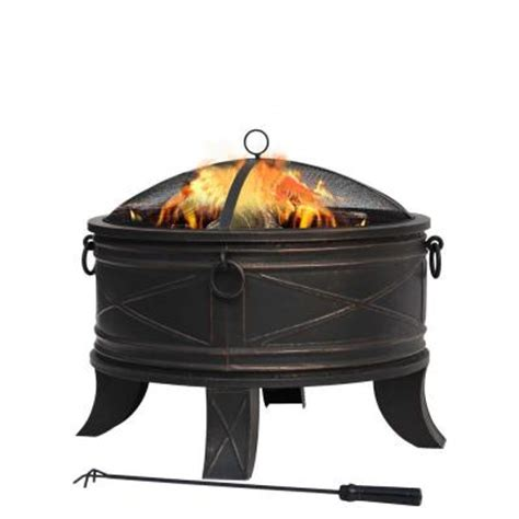 Home Depot Firepits Hton Bay Quadripod 26 In Pit Ft 51161 The Home Depot
