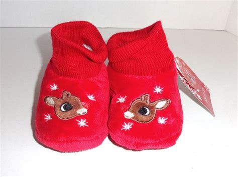 rudolph the nosed reindeer slippers new rudolph nosed reindeer toddler slippers