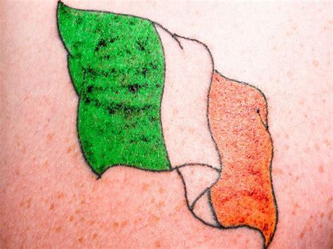 coloured irish flag tattoo tattooimages biz