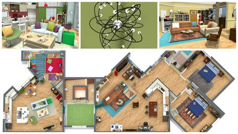 office layout theory tour the big bang theory apartments in live 3d