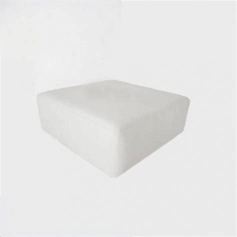 square white ottoman contempo linens lounge furniture ottoman square white