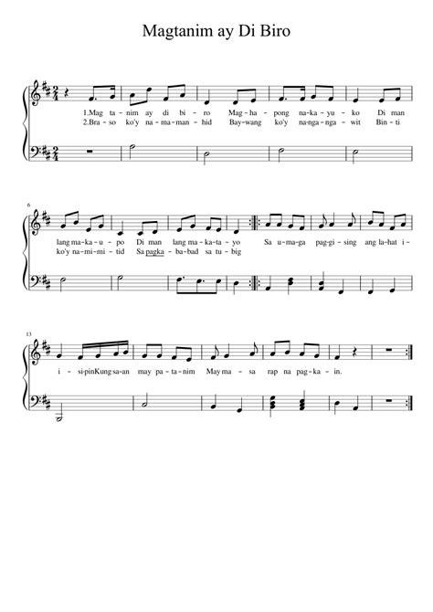 Magtanim ay Di Biro sheet music for Piano download free in