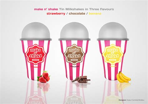 Shake N Take Cyprus milkshake packaging on behance