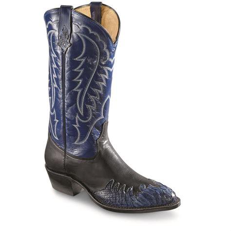 mens python boots tony lama s python wingtip toe western boots