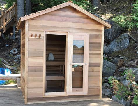 sauna cabin outdoor cedar sauna cabin 183 x 244cm outdoor cedar saunas