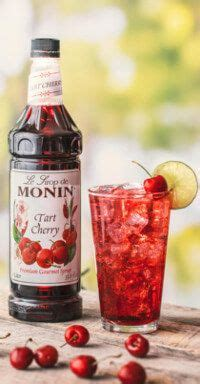 cherry coffee syrup recipe recipes with tart cherry syrup monin libations