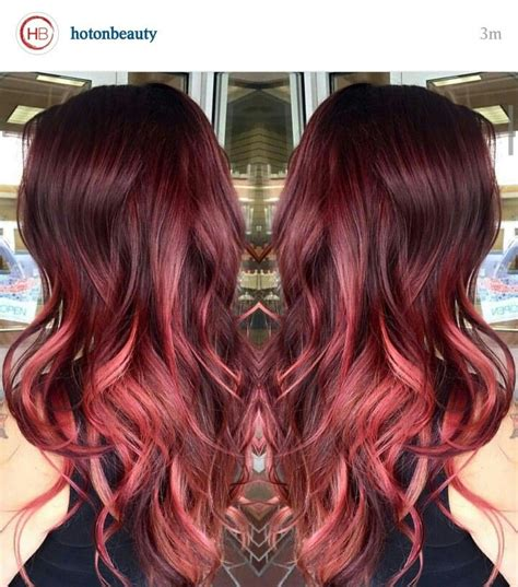 red and blonde hombre pics 25 best ideas about red ombre on pinterest fire ombre