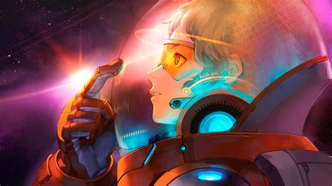 anime girl wallpaper space anime manga girl in space suit wallpapers free computer