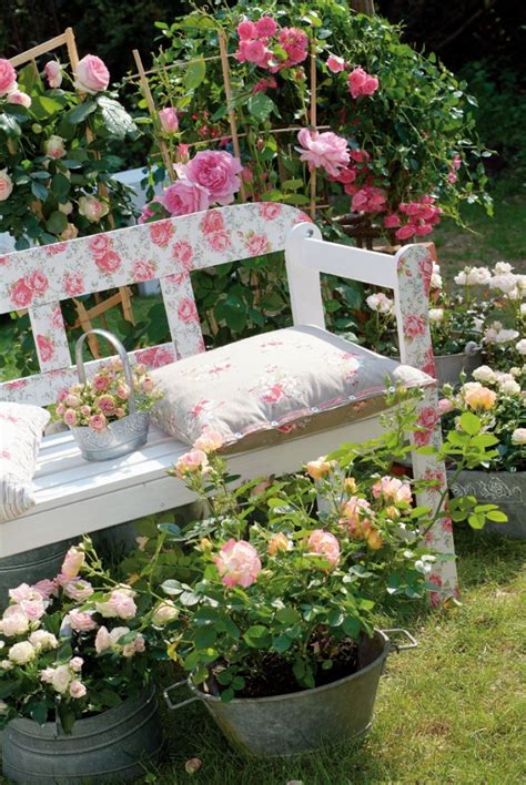 shabby chic garden bench my style pinterest