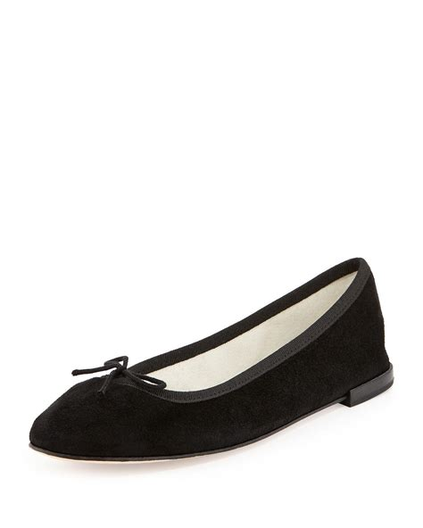 Leather Bb Gemini repetto flat suede neon bb in black lyst