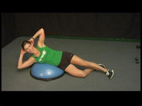 bosu ball exercises bosu ball exercises oblique crunches youtube
