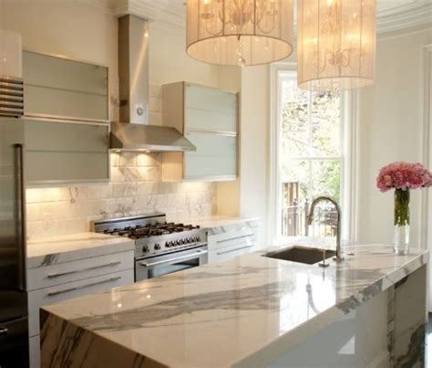 White Marble Kitchen Countertops by Marble Kitchen Countertops Are Coming Back
