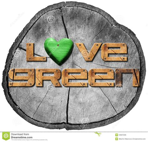 love section love green on section of tree trunk royalty free stock