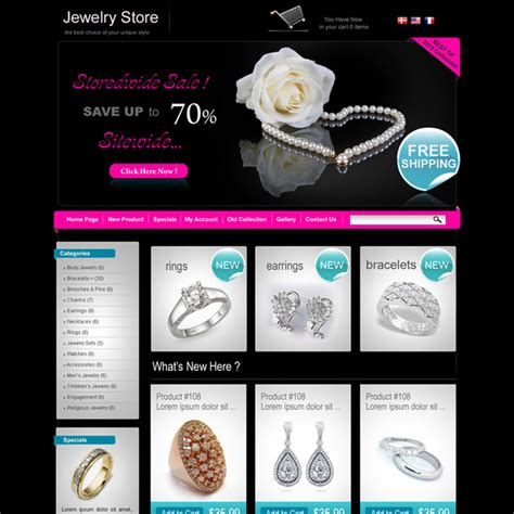 templates for jewellery website jewelry website template free style guru fashion glitz