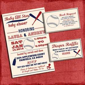 printable baby shower baseball themed invitation set invite