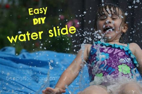 how to make a water slide in your backyard easiest homemade water slide for the backyard happy