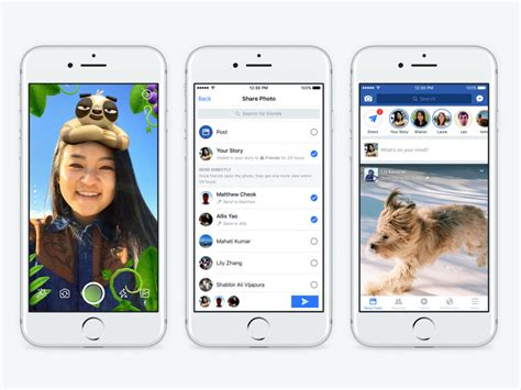 facebook themes for iphone facebook adds snapchat features like lenses stories and