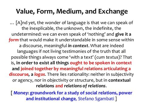 the wonders of language value form medium and exchange v3 0