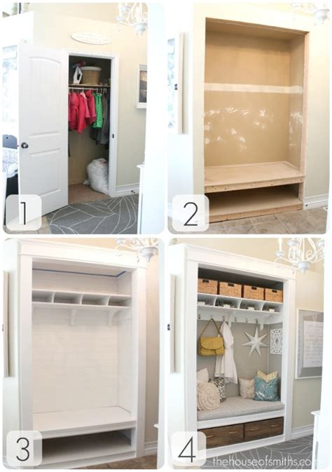 Closet Turned Mudroom by Turning A Coat Closet Into A Mudroom Like Nook Hooked On