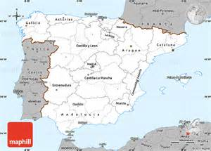 Political Map Of Spain by Gallery For Gt Spain Political Map Black And White