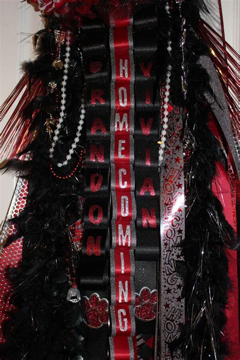 homecoming mum loop ribbons homecoming pinterest