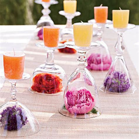 table center pieces 20 candles centerpieces romantic table decorating ideas