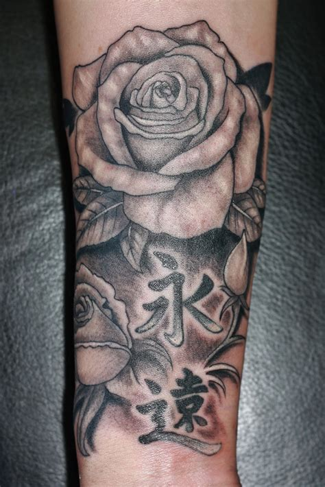 black and white rose tattoo for men designs inspiration mens craze