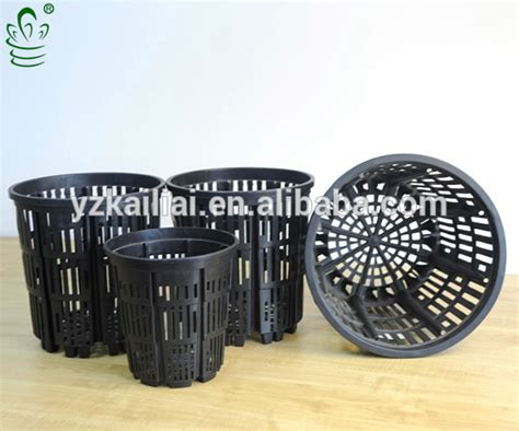 Jual Pot Anggrek Plastik kailai hydroponics growing net pot on sale black plastic