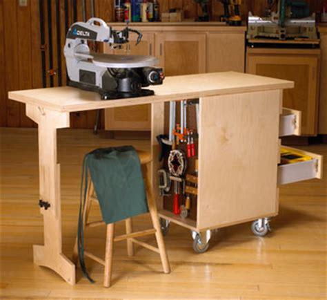shop cart workbench woodworking plan