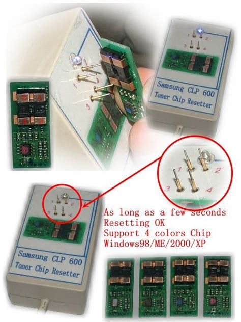 samsung chip resetter device samsung clp 600 650 toner chip resetter blueera china