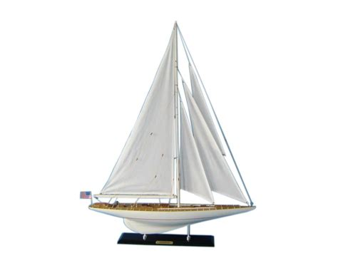 Sailboat Models For Decoration by Wooden Intrepid Limited Model Sailboat Decoration 35 Quot