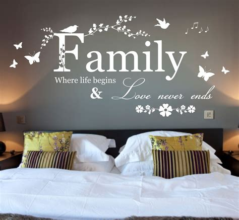 big wall decals for bedroom large family where life begins quote vinyl wall art