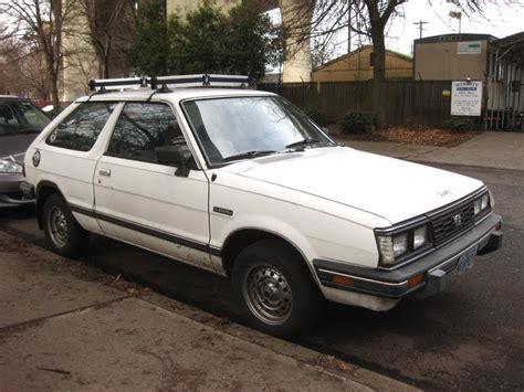 old hatchback old parked cars 1986 subaru gl hatchback