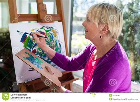 painting for elders happy elderly painting for at home royalty free