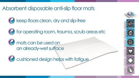 Disposable Absorbent Floor Pads - absorbent non slip disposable floor mats