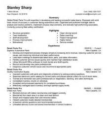 Curriculum Vitae Components by Unforgettable Retail Parts Pro Resume Examples To Stand