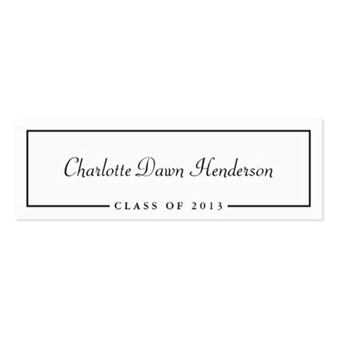 template for graduation name cards graduation announcement name card border class of pack of