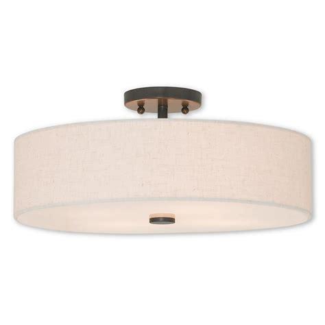 bronze semi flush mount light livex lighting meridian 4 light bronze semi