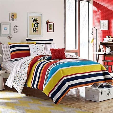 bed bath and beyond teen bedding teen vogue 174 dots and dashes reversible comforter set bed