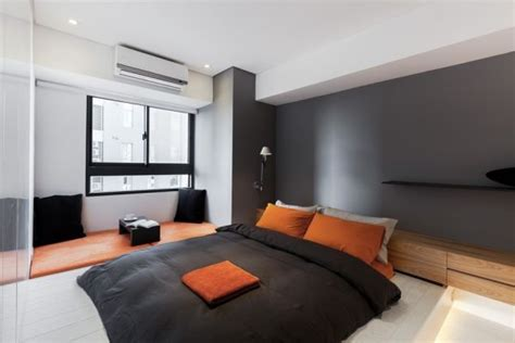 Orange And Black Bedroom Ideas by Classical Black And White Apartment With A Modern Touch