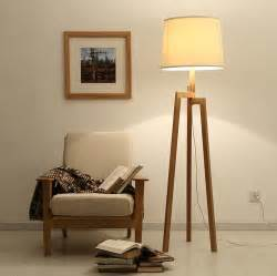 modern tall wood floor lamps for living room solid wooden