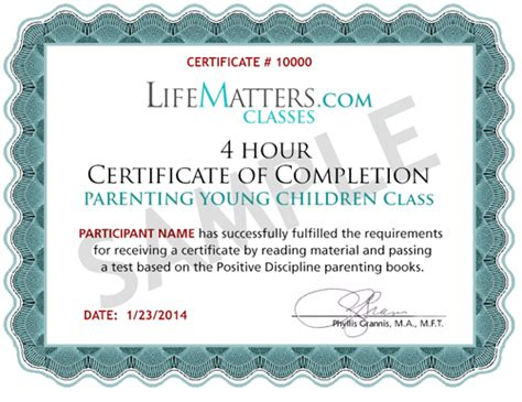 Quick Easy Court Ordered And Approved Parenting Classes Certificate Of Completion Parenting Class Certificate Of Completion Template