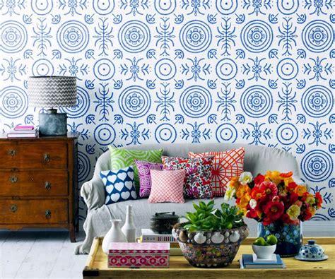 nina cbell luxury wallpaper 171 interior design files model wallpaper in blue and white interior design ideas