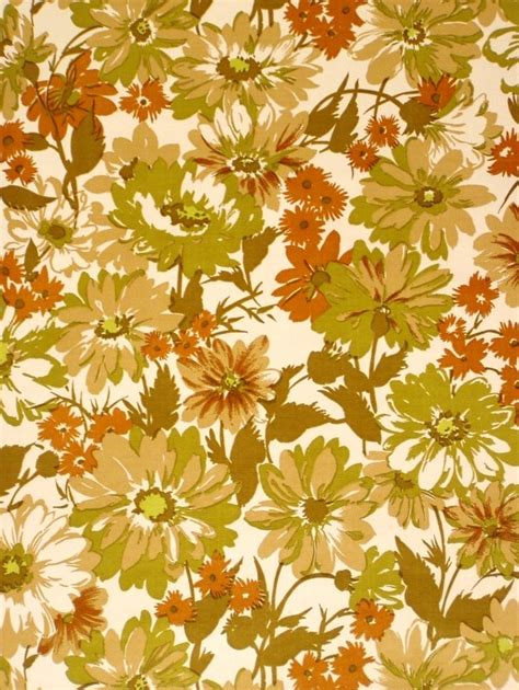 70s Floral by Vinyl Wallpaper With Floral Wallpaper Pattern From The 70s