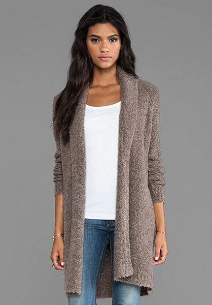 Cardigan Soft Brown joie soft boucle wendi cardigan in brown in light smoky topaz lyst