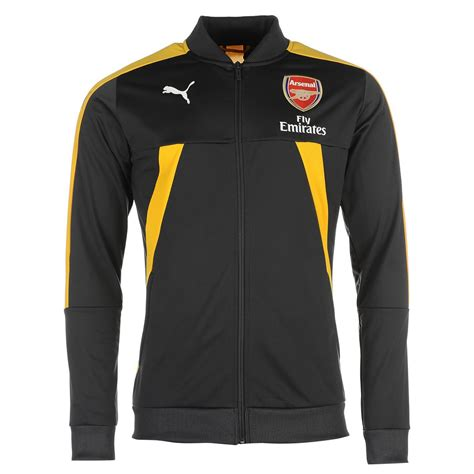 arsenal zip up puma mens afc stadium jacket coat top arsenal football