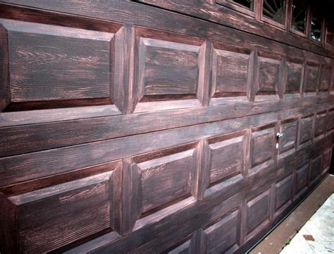 Steel Garage Doors With The Wood Look Hardware Trim Wood Look Steel Garage Doors