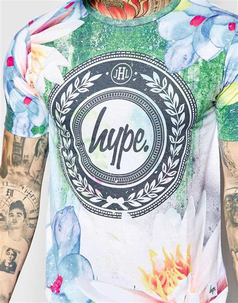 Weekday Alan T Shirt Green hype t shirt with watercolour floral print in green for
