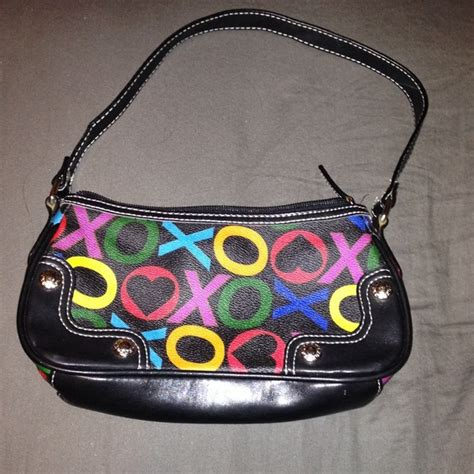 Xoxo Purse by Xoxo Xoxo Black And Colorful Shoulder Purse From