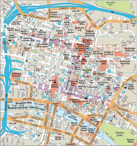 libro glasgow mapping the city glasgow attractions map glasgow tourist attractions map